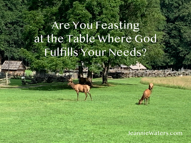 Are You Feasting at the Table Where God Fulfills Your Needs?